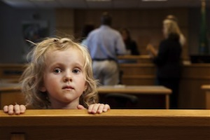 Child in courtroom