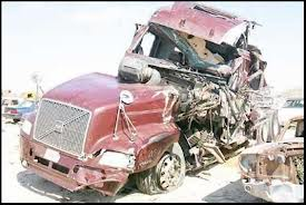 Wrecked Tractor Trailer